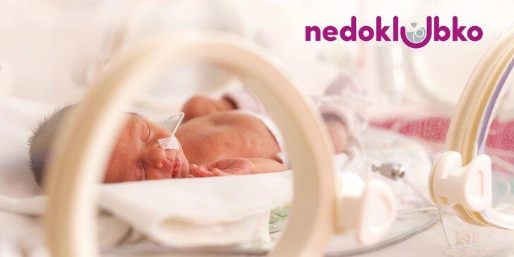 Podpořte rodiny předčasně narozených miminek: příspěvek pro Nedoklubko