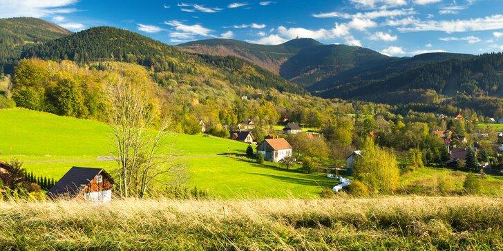 3 až 7 dní v Beskydech: relaxační pobyt s privátním wellness i polopenzí