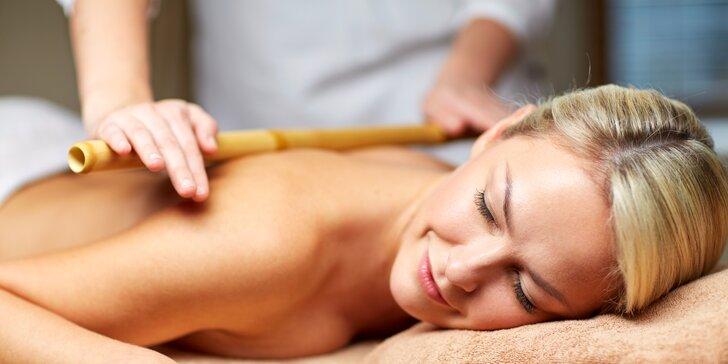 50 minut blaha při neobvyklých procedurách: masáž bambusem či Lomi Lomi