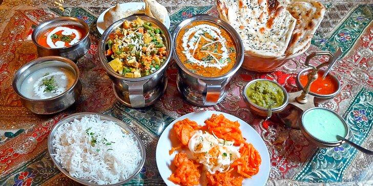Nepálské menu pro 2 či 4 os. s kuřecím i vegetariánským jídlem dle výběru