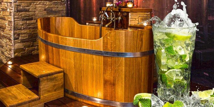 Osvěžující letní koupel a drinky pro dva v lázních na Stodolní