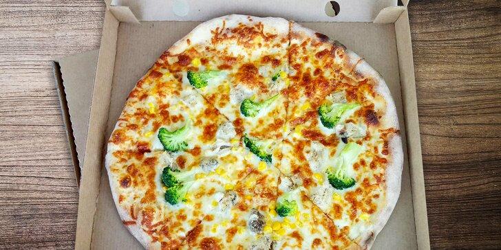 Křupavá pizza s sebou dle výběru: 1 nebo 2 pochoutky, ⌀ 35 nebo 45 cm