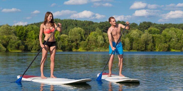 Zapůjčení komplet vybavení na stand-up paddleboarding na 1 hod. i celý den