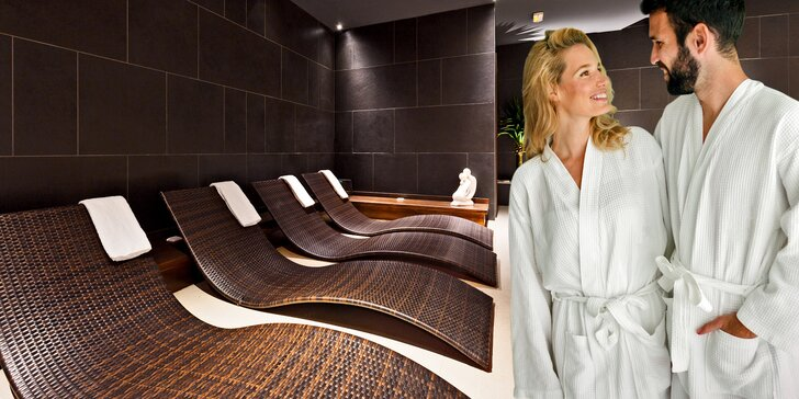 Masáž a privátní wellness pro 2: vířivka, sauny, pára, zážitkové sprchy i sekt