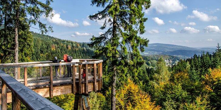 Tři letní dny v Krkonoších: polopenze a výlety i vstup do korun stromů