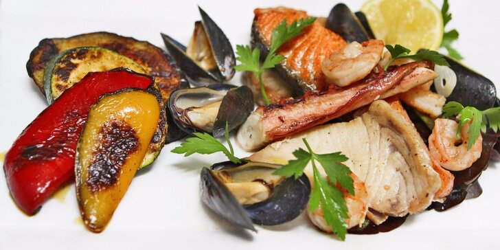 Čerstvé mořské plody a ryby z grilu pro dva u Emy Destinnové