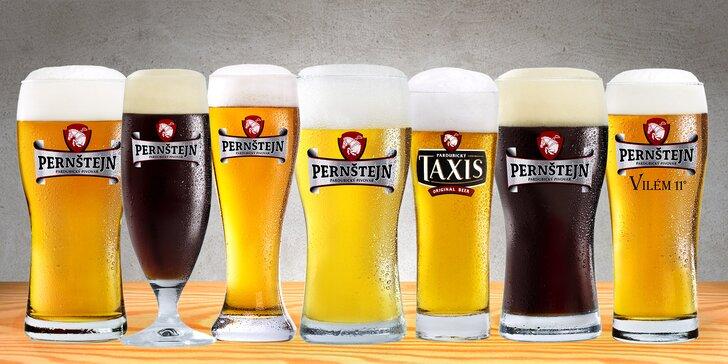 Metr piva: 10x 0,5 l piva z pivovaru Pernštejn dle výběru z 8 druhů
