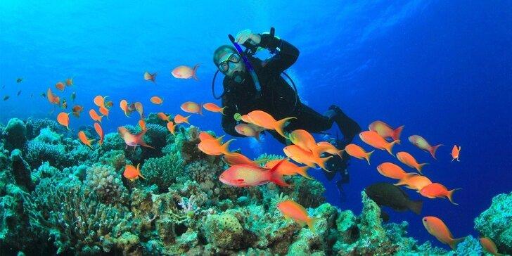 Kompletní kurz potápění s přístrojem pro začátečníky pod dohledem zkušených instruktorů