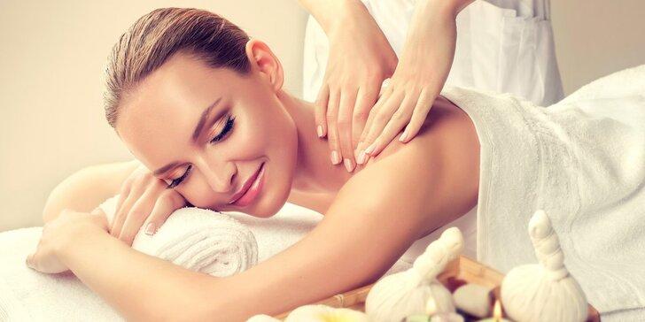 Užijte si chvilku odpočinku: Uvolňující, relaxační či medová masáž dle výběru
