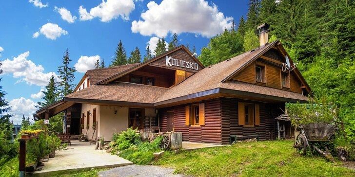Výjimečný letní pobyt v horské chatě v Nízkých Tatrách s polopenzí pro dva