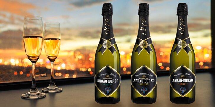 Šumivá vína Abrau Durso od Černého moře: Brut, Semi Dry i Semi Sweet