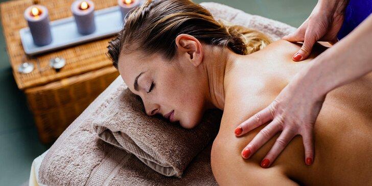 60 minut uvolnění a relaxace: masáže dle vlastního výběru