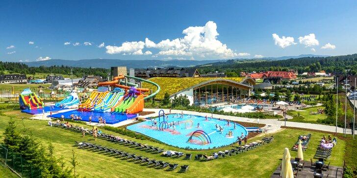 Vstupy do aquaparku Terma Bania: vnitřní i venkovní bazény, sauny, relax