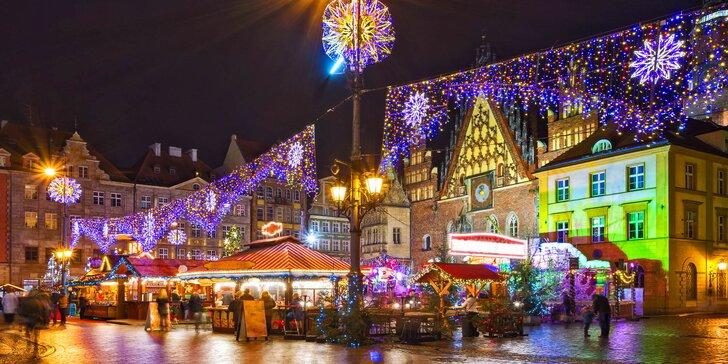Předvánoční atmosféra kouzelné Wroclawi s průvodcem: odjezd z Čech