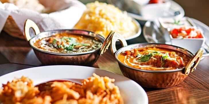 Autentické nepálské menu pro dva: masové i vegetariánské speciality