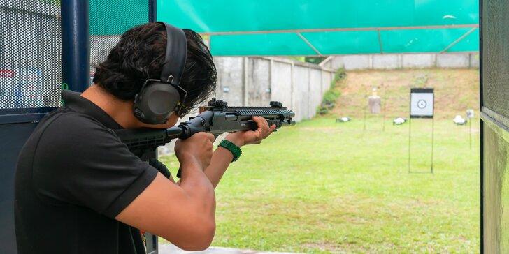 Střelba na venkovní střelnici: 60–90 minut, dlouhé i krátké zbraně