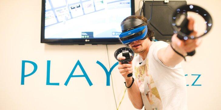 60 min. zábavy ve virtuální realitě s absolutní volností pohybu pro 1-5 os.