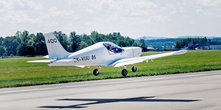 Pilotem na zkoušku: 20–60min. zážitkový let ve dvoumístném ultralightu