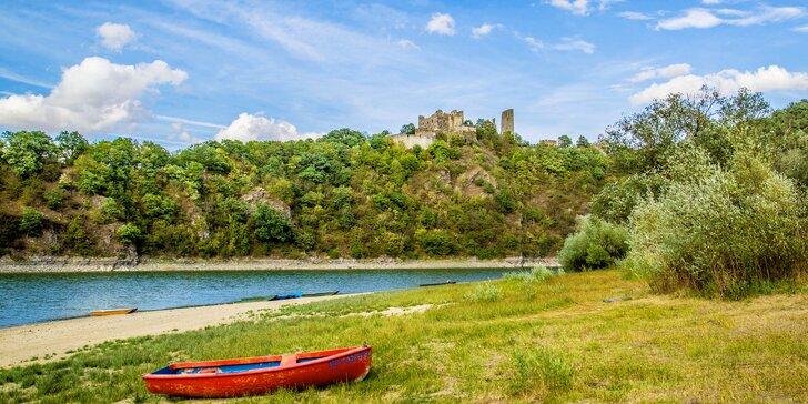 Relax pro partu i rodinu u Vranovské přehrady - zapůjčení lodiček v ceně
