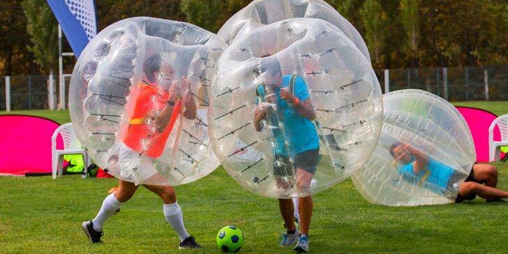 Bubble football: zábavný fotbal v koulích v délce 60 či 120 minut