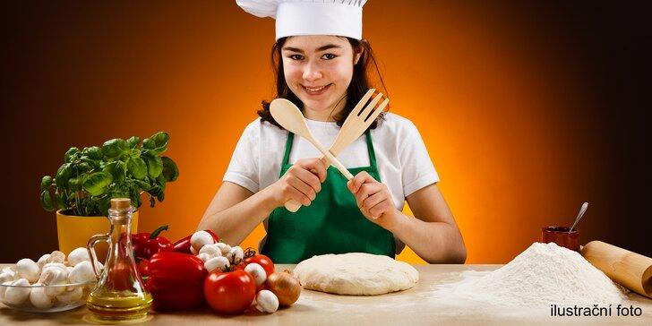 Kuchařský kurz pro děti: výběr ze 4 druhů pizz a nápoj podle chuti