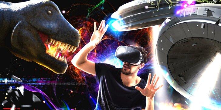 Virtuální zážitky pro malé i velké: až 120 minut v jiné realitě
