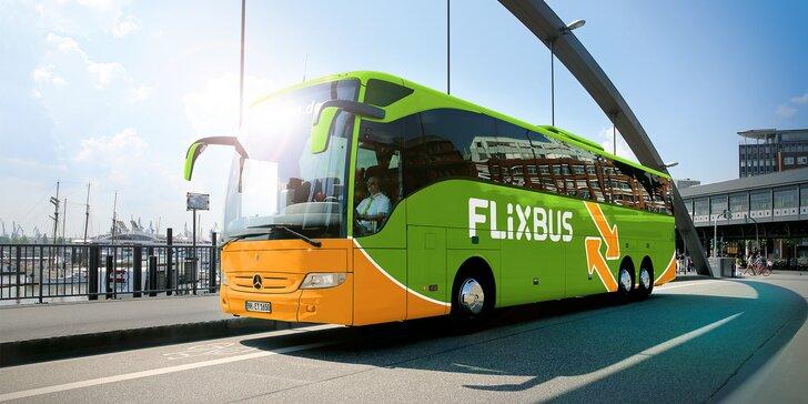 25–40% sleva na FlixBus: linky přes Uherský Brod, Uherské Hradiště a Trenčín