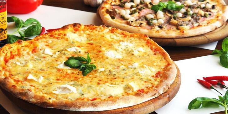 Vyberte si podle chuti: 2× pizza o průměru 32 cm z nabídky 13 druhů