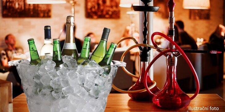 Vodní dýmka a párty kýbl pro 2 až 6 osob: vodka a Red Bull nebo třeba mojito