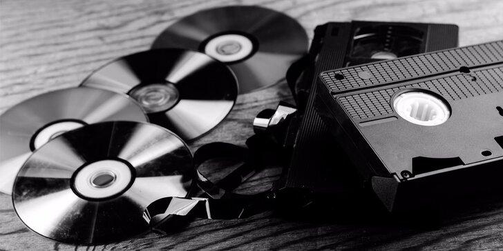 Sbohem, kazety: Přepis 120minutového videa z VHS na DVD