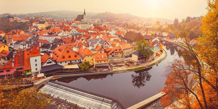 Romantický podzim pro dva v Českém Krumlově se snídaní a lahví sektu