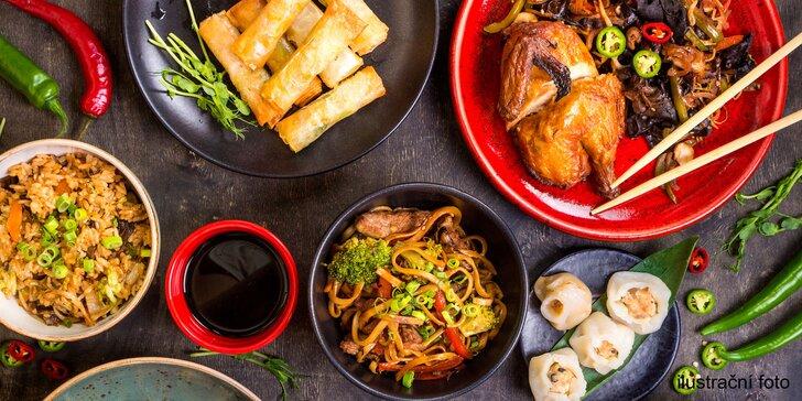 Cokoli z menu čínské restaurace: speciality na železné plotýnce i mořské plody