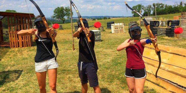Staňte se lučištníkem: akční archery game vč. zapůjčení komplet vybavení