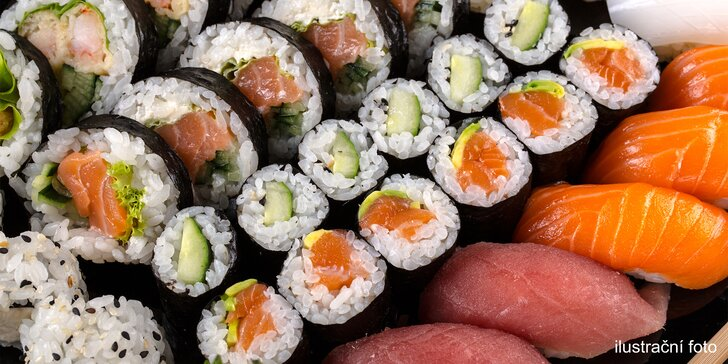 18 nebo 30 kusů lahodného sushi: vaječná omeleta i tataráček z tuňáka