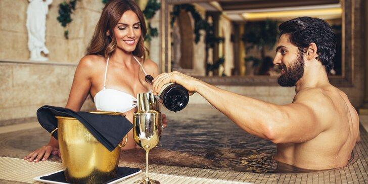90 minut privátního wellness až pro 4 osoby: vířivka, sauna i lahev sektu