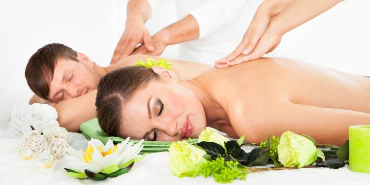 Relax pro dva: masáž podle výběru, aroma lázeň na nohy i maska na obličej