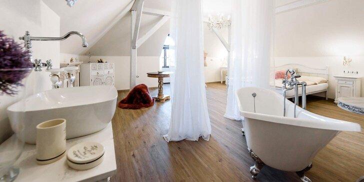 Romantika ve mlýně: luxusní ubytování, polopenze a 2 hodiny ve wellness