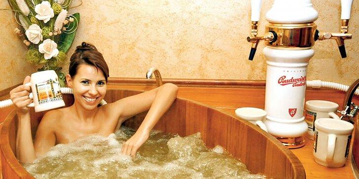 Relax pro dvě osoby: bazén, sauna a privátní lázeň s neomezeným pivem