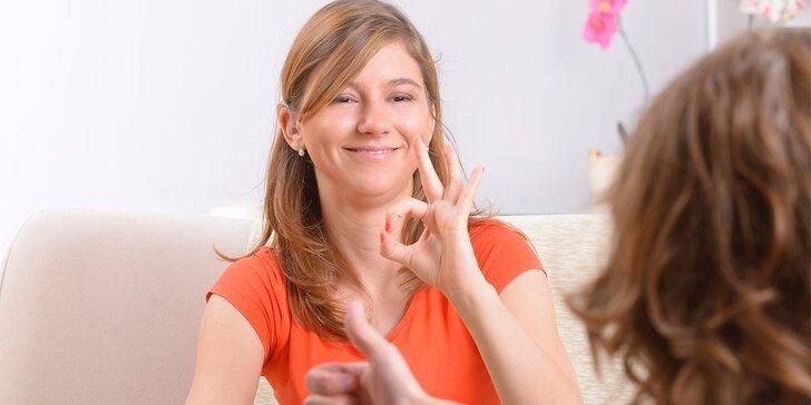 Úvodní kurz znakového jazyka - 2x 90 minut v termínu dle výběru