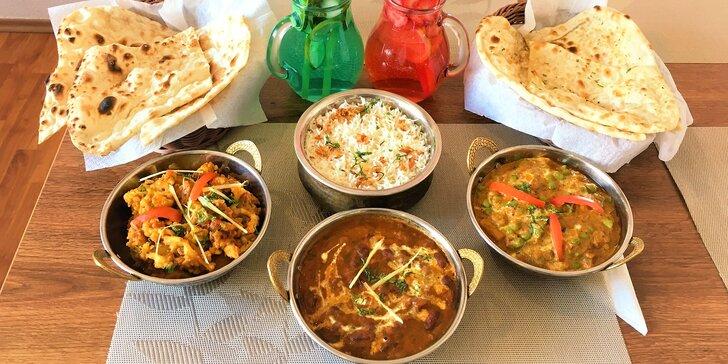 Vegetariánské či kuřecí indické menu: Rajma Masala i South Indian Chi Masala