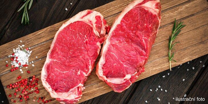 Ideální na letní grilování: 500 g argentinského hovězího striploin steaku