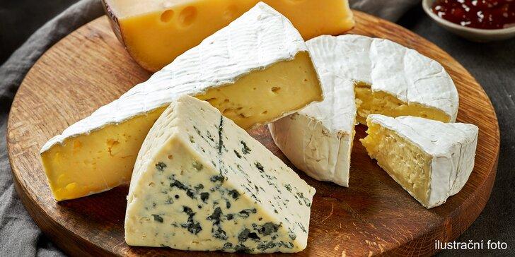 350gramový balíček pro milovníky plísňových sýrů ze tří zemí Evropy