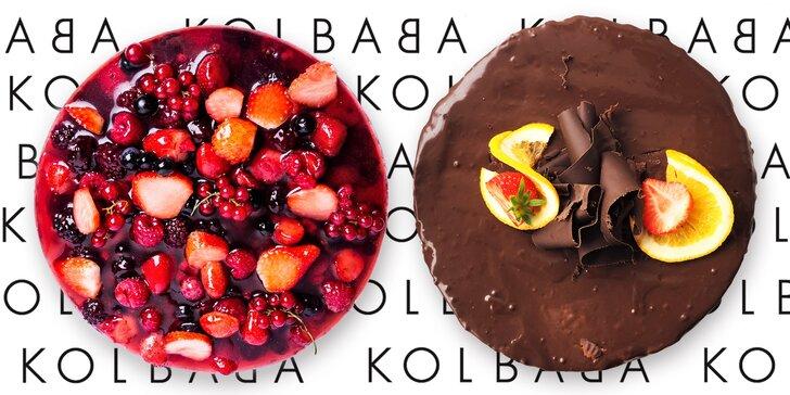 Čokoládový nebo svěží jogurtový dort z vyhlášené cukrárny Kolbaba