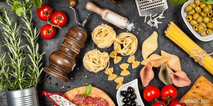 Pravá Itálie: vouchery na potraviny v hodnotě 300 nebo 500 Kč