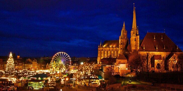 Adventní perly Durynska: malebný Výmar a Erfurt s jedinečnými trhy u Dómu