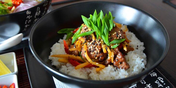 Asijské menu pro 1 osobu: vietnamská polévka Pho Bo a kuřecí Teriyaki