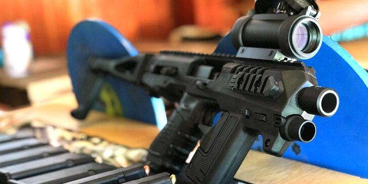 Zážitek na střelnici: Glock 17, Micro Roni 2, útočná puška i pumpa brokovnice