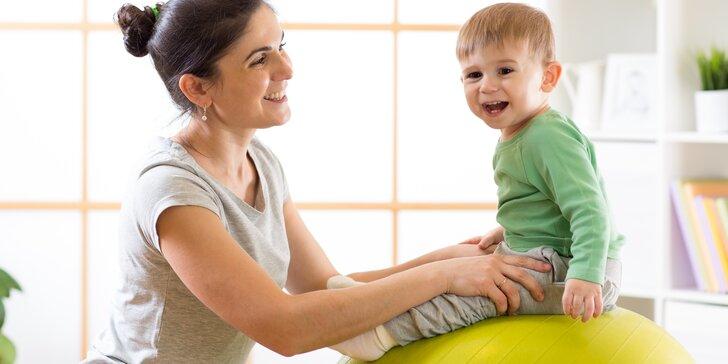 Vstup na 3 lekce cvičení rodičů s dětmi od 4 měsíců do 3,5 let