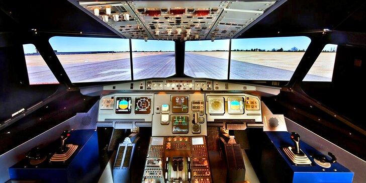 Jen tento týden: až 90 minut na simulátoru dopravního letadla A320