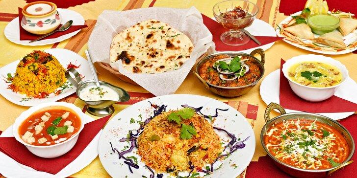 Žádné maso: indické vegetariánské menu ve smíchovské restauraci Taj Mahal